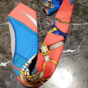 Hermes authentic tie bright beautiful colors